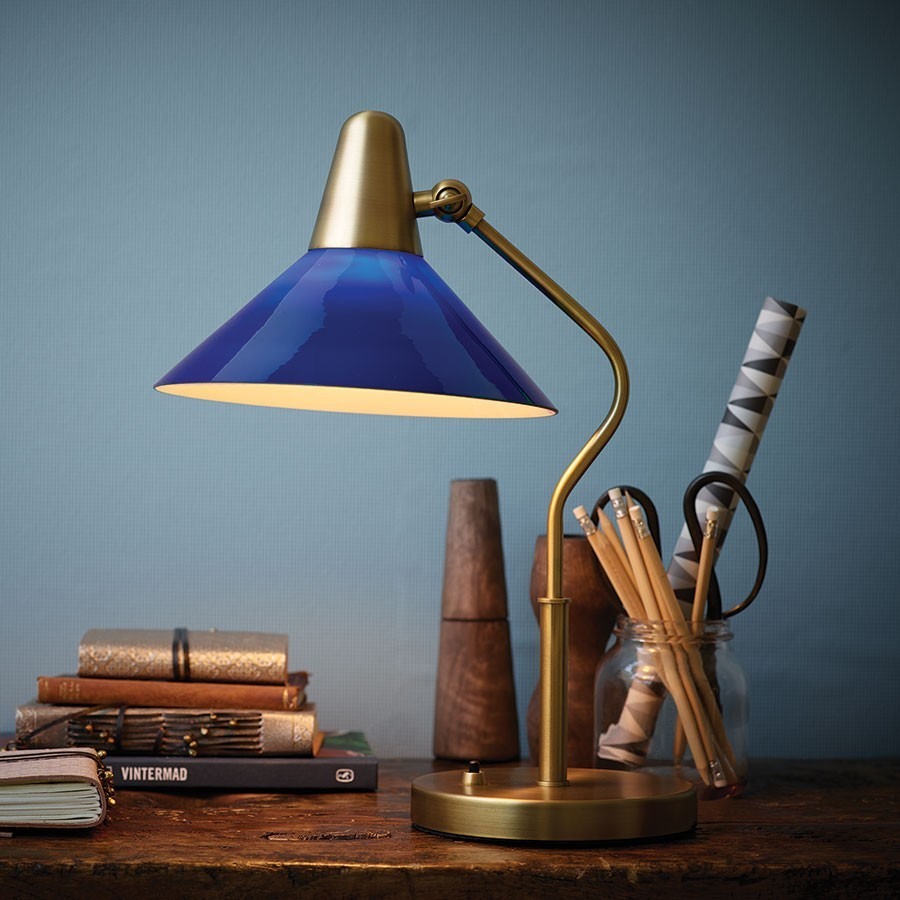 martello-tablelamp-brass-blue-glass